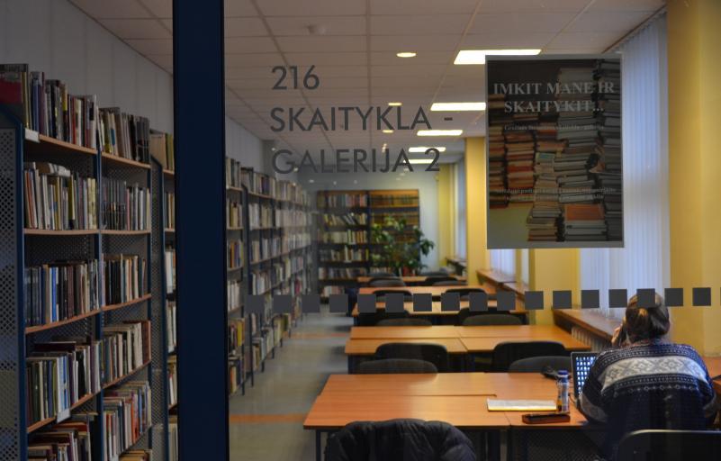 Kviečiame naudotis Galerija skaitykla - darbo kambariu