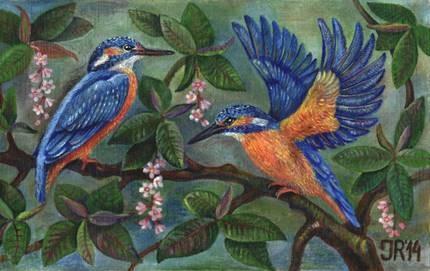 """Vitražų ir tapybos paroda """"Paukščiai"""""""