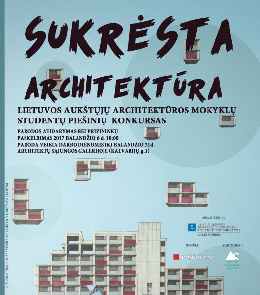 Architektūrinio piešinio konkurso – parodos atidarymas