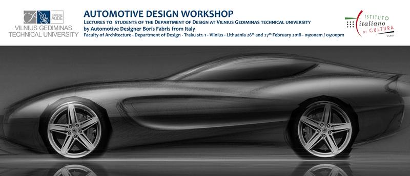 Dizaino katedros studentams – paskaitos ir kūrybinės dirbtuvės su dizaineriu iš Turino