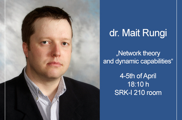 Lectures by professor dr. Mait Rungi