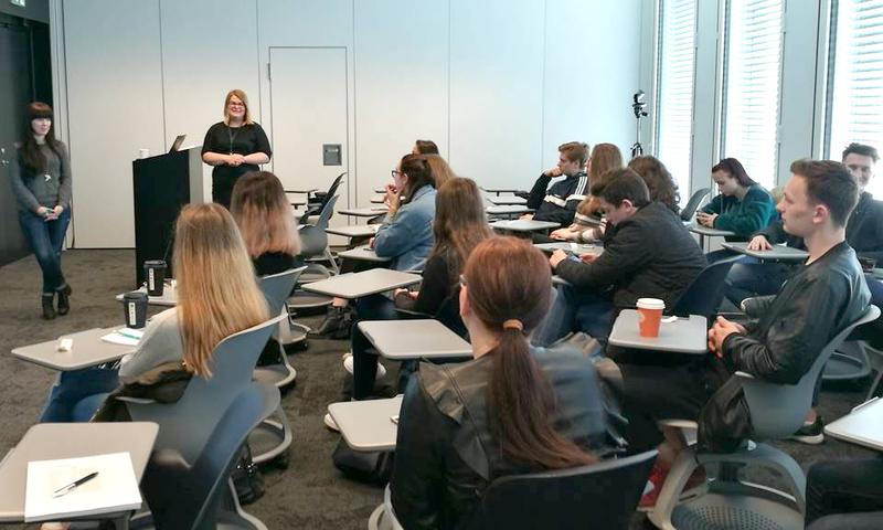 """Studentų vizitas """"Danske Bank"""" Globalių paslaugų centre"""
