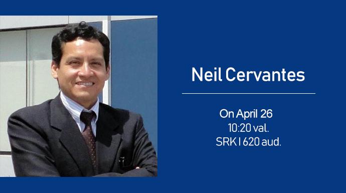 On 26 April lecture by Neil Cervantes (University of San Ignacio de Loyola)