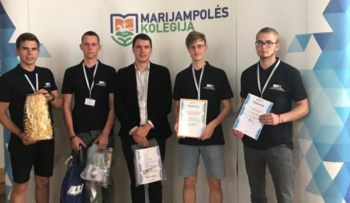 """TIF komanda – konkurso """"Geriausias jaunasis automobilininkas"""" prizininkai"""