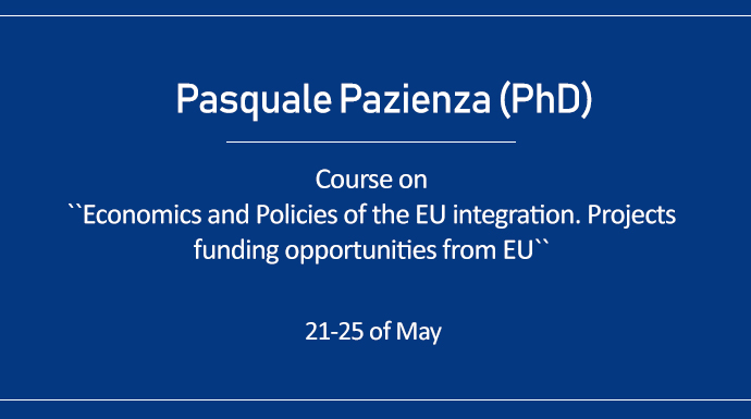 Lectures by Pasquale Pazienza (PhD)