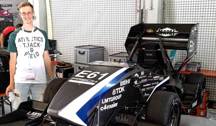 VGTU studentiškos formulės komanda lankėsi garsiojoje Hockenheimo lenktynių trasoje