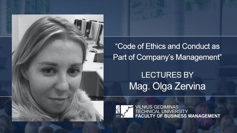 Lectures by Mag. Olga Zervina
