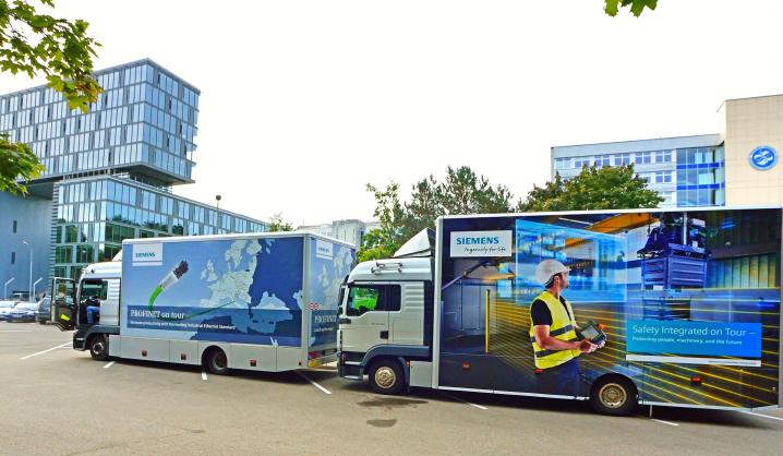 Į VGTU užsuko Siemens įrangos Demo autobusai