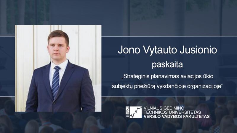 Vyks Jono Vytauto Jusionio paskaita