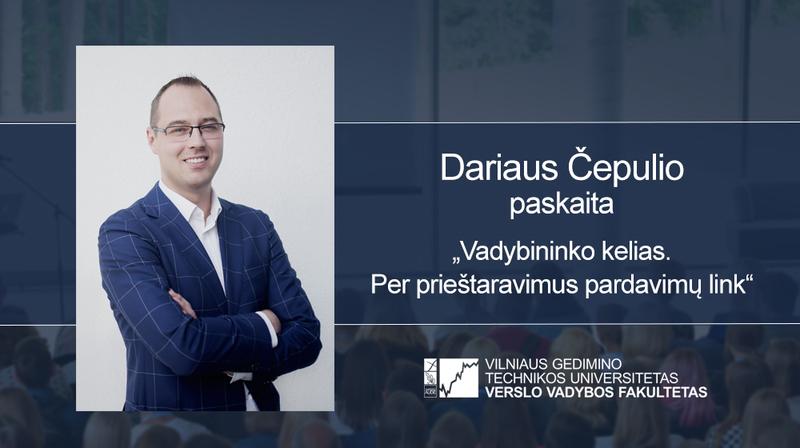 Vyks Dariaus Čepulio paskaita