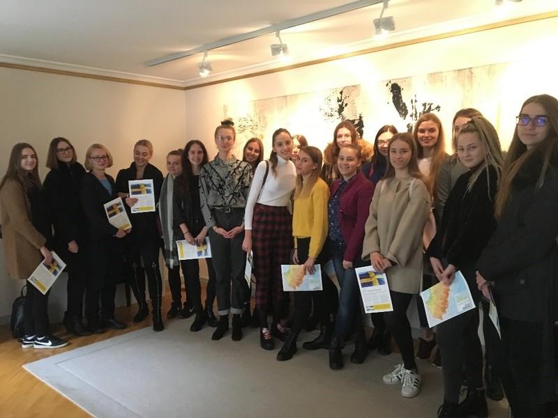 Studentų vizitas Švedijos ambasadoje (Vilniuje)