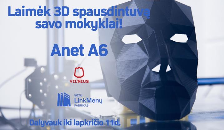 Laimėk 3D spausdintuvą savo mokyklai