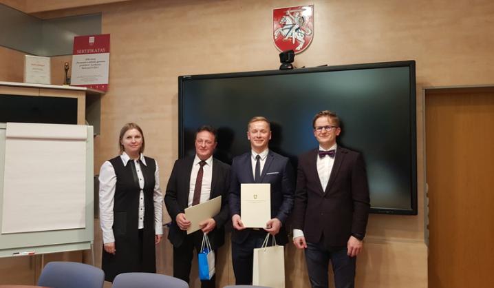 Geriausios disertacijos apdovanojimas – VGTU doktorantui