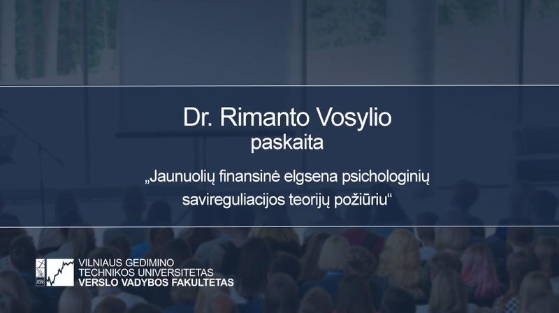Vyks dr. Rimanto Vosylio paskaita