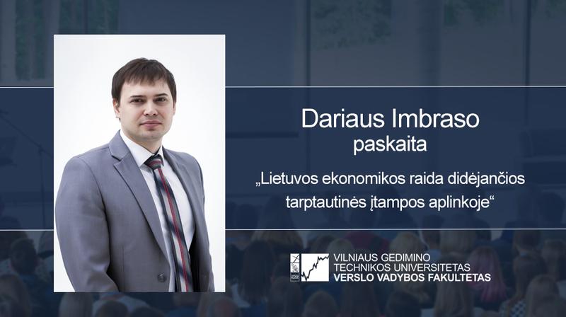 Vyks Dariaus Imbraso paskaita