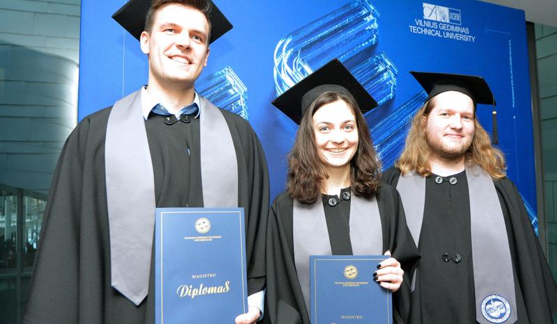 VGTU diplomų įteikimo šventės akimirkos