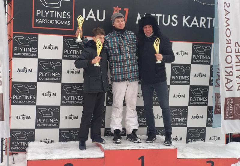 """VGTU Automotive"" kartingistų komanda sėkmingai skina laurus"