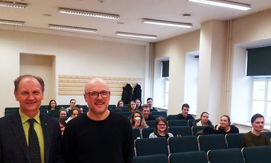 Fakultete svečiavosi  Konstantinos Stylidis