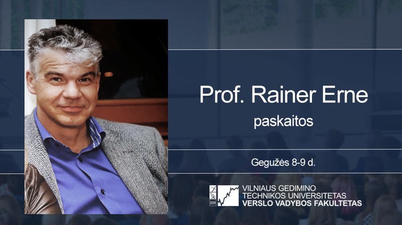 Vyks Prof. Rainer Erne paskaitos