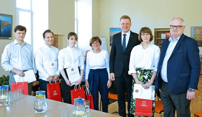 VGTU bendruomenę aplankė Vilniaus miesto meras
