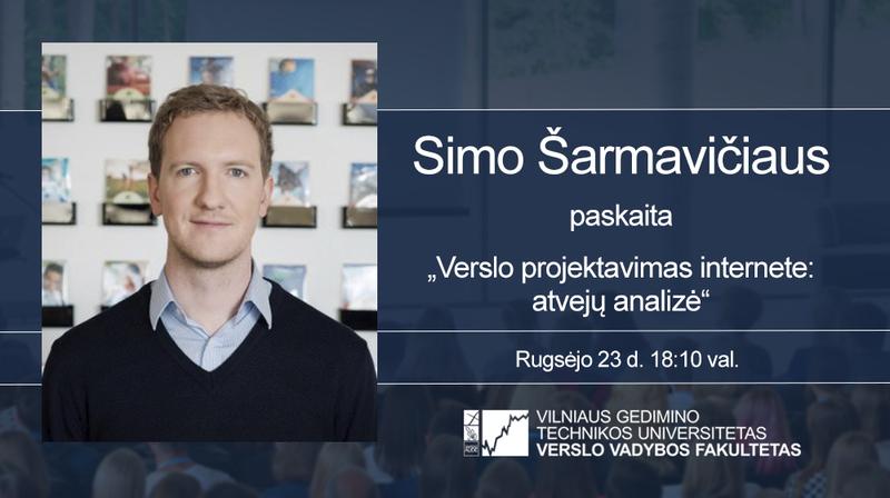 """Vyks """"Gera dovana"""" el. prekybos vadovo Simo Šarmavičiaus vieša paskaita"""