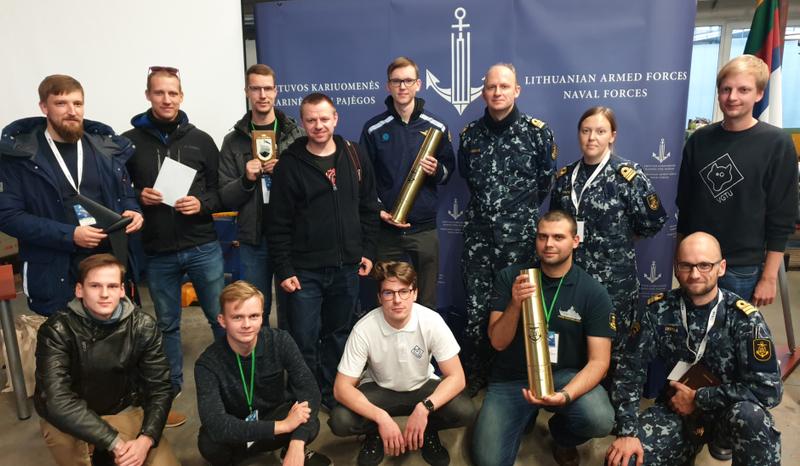 """""""Delta Navy"""" hakatono nugalėtoja – VGTU komanda, sukūrusi sprendimą optinės komunikacijos sistemai"""