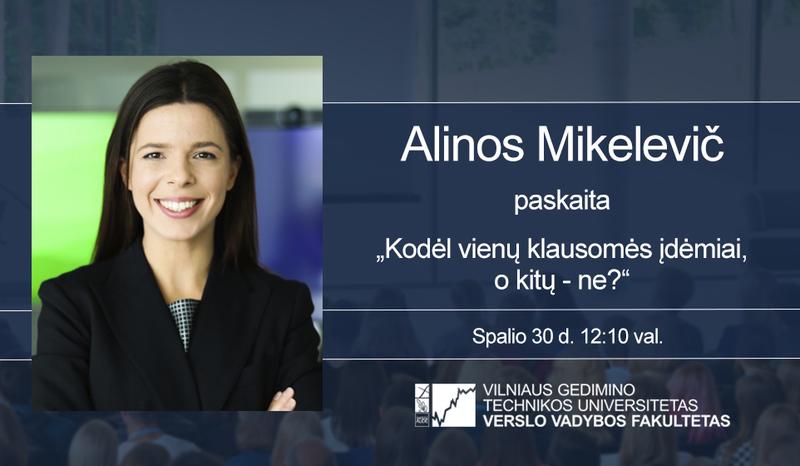 Vyks Alinos Mikelevič paskaita