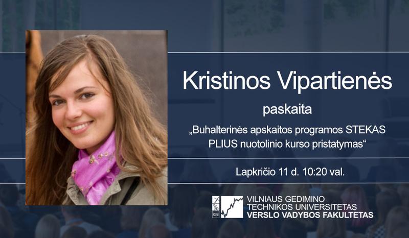Kristinos Vipartienės paskaita