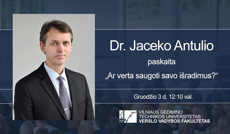 Dr. Jaceko Antulio paskaita