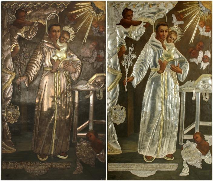 Prie Šv. Antano Paduviečio paveikslo restauravimo darbų prisidėjo ir Mechanikos fakulteto dėstytojas doc. dr. Justinas Gargasas