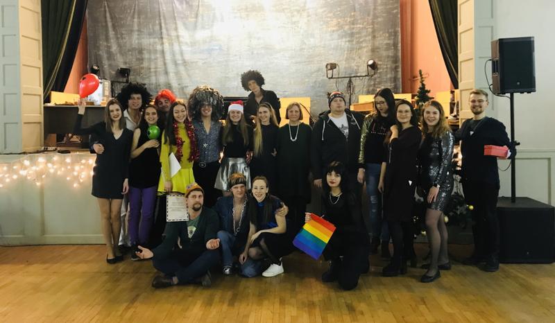 """VGTU akademinis choras """"Gabija"""" surengė jau tradicija tapusį kalėdinį karnavalą"""