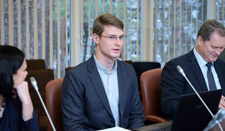 VGTU rektoriumi tapęs studentas rūpinosi kolegų motyvacija