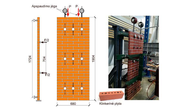 VGTU mokslininkai pasiūlė inovatyvų klinkerio mūro fasadų sistemos sprendinį