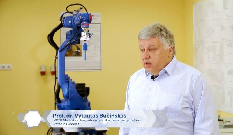 """Laidoje """"Mokslo ritmu"""" prof. dr. Vytautas Bučinskas apie robotizaciją"""
