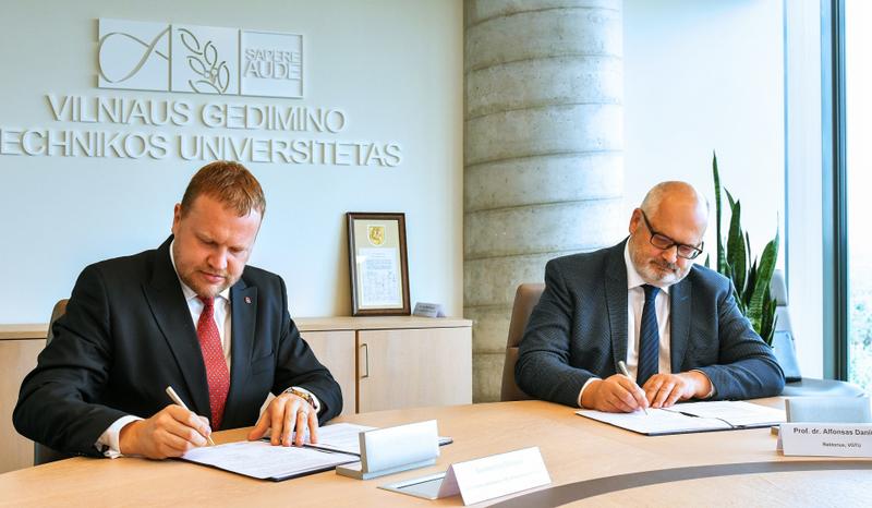VŠT ir VGTU skatins naujų technologijų progresą Vilniaus mieste