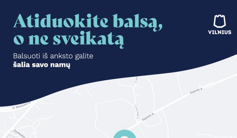 Vilniaus miesto savivaldybė kviečia balsuoti saugiai ir patogiai