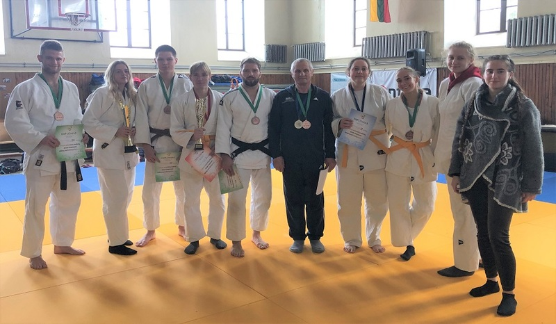 Lietuvos studentų dziudo čempionate 7 medaliai