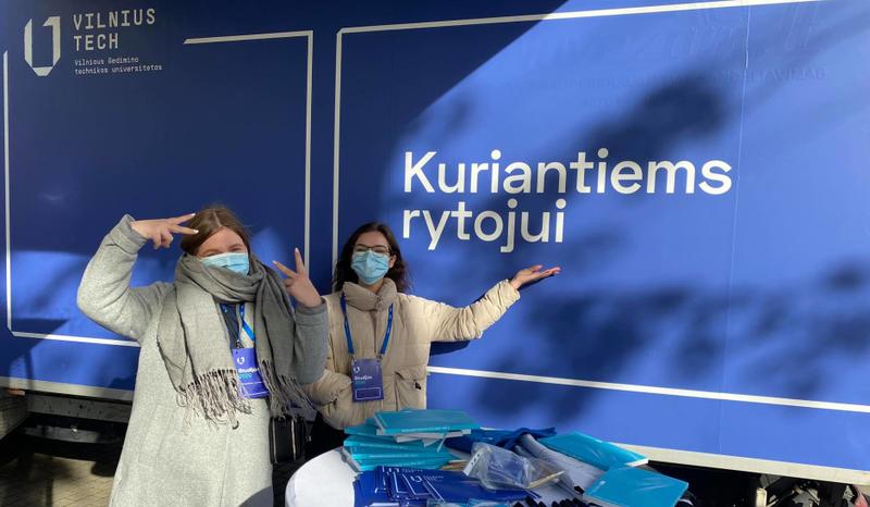 VILNIUS TECH mobili studijų paroda pradėjo kelionę po Lietuvą