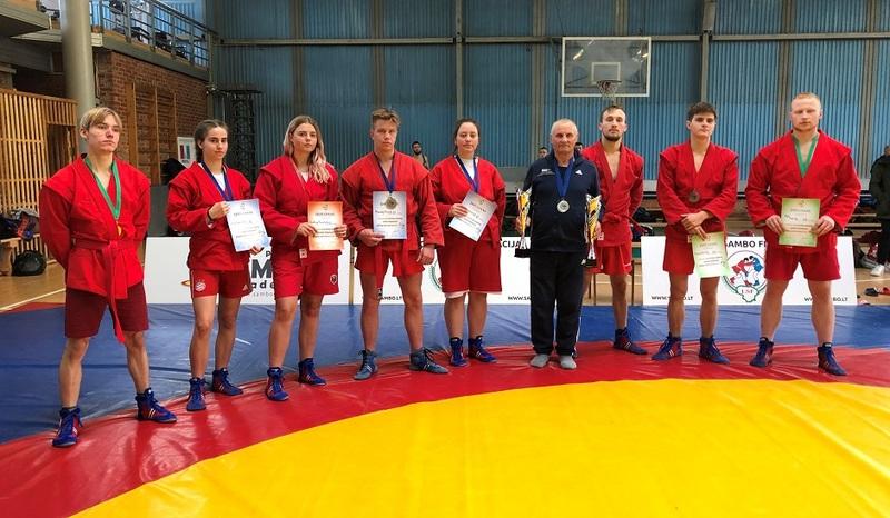Lietuvos studentų sambo imtynių čempionate II-oji vieta