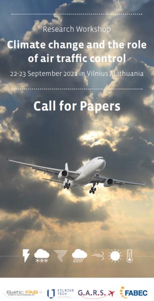 Baltijos (Baltic FAB) bei Europos centrinio (FABEC) funkcinių oro erdvės blokų iniciatyva - 2021 m. rugsėjo 22-23 dienomis Vilniuje vyks tyrimų dirbtuvės