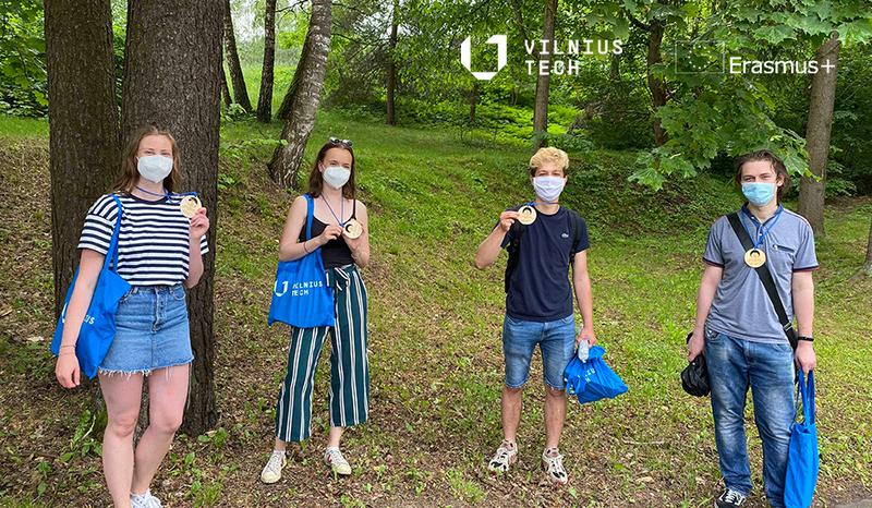 VILNIUS TECH exchange students hiked around Vilnius
