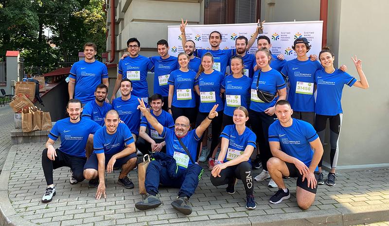 VILNIUS TECH Erasmus+ students joined the RIMI Vilnius Marathon
