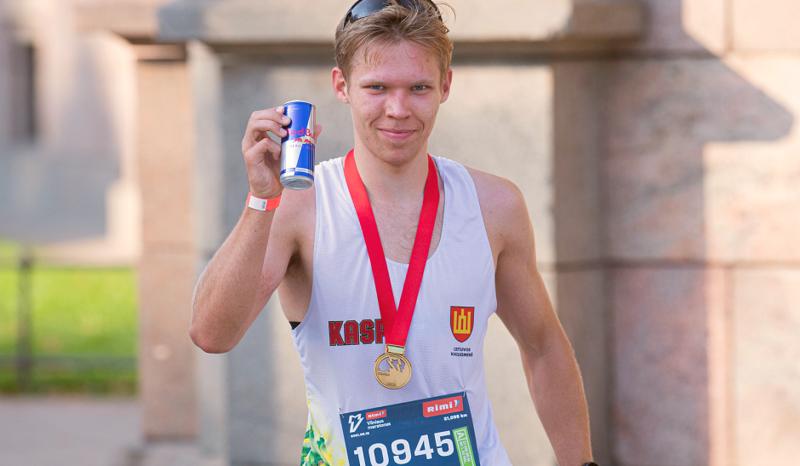 VILNIUS TECH studento pasirodymas Vilniaus maratone