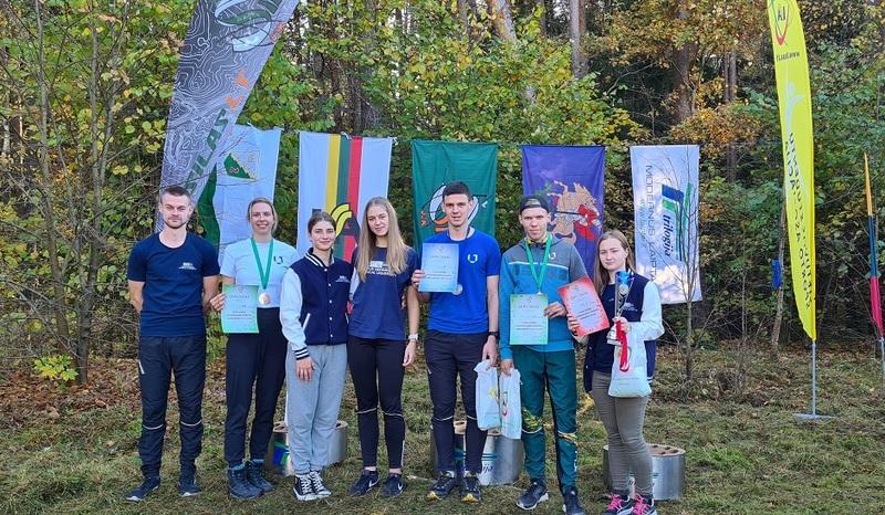 Lietuvos studentų orientavimosi sporto čempionate II-oji vieta