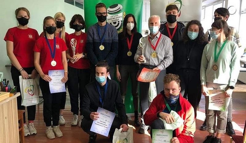 Lietuvos studentų kulkinio šaudymo čempionate laimėtas bronzos medalis