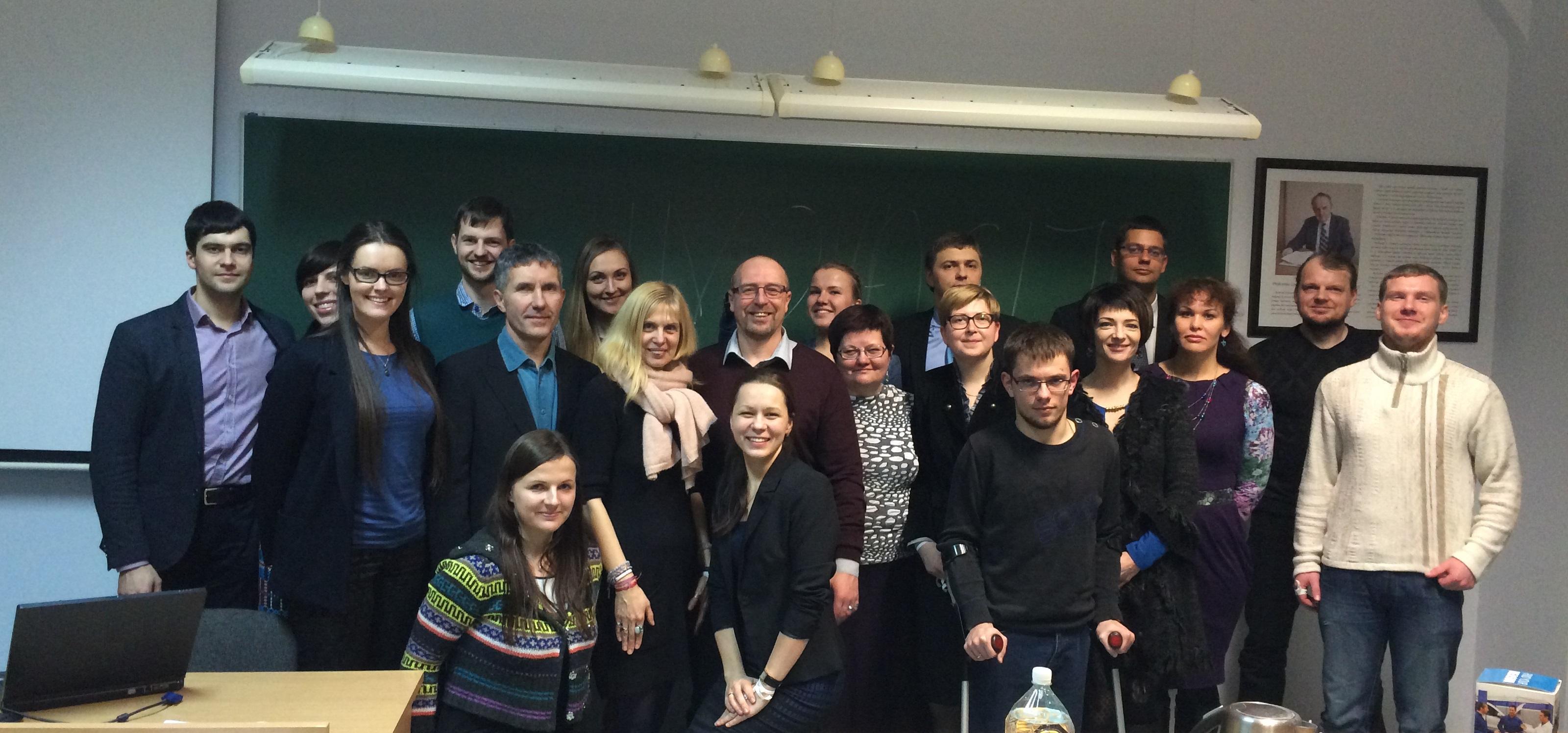 Nuotaikingas Toastmasters' Club Vilnius susitikimas Elektronikos fakultete