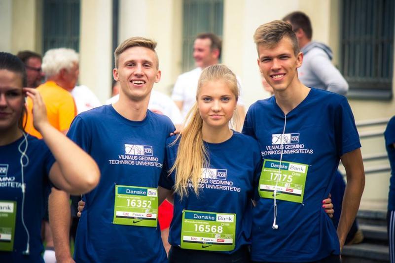 "VGTU komanda triumfavo ""Danske Bank Vilniaus maratone"" (nuotraukų galerija)"