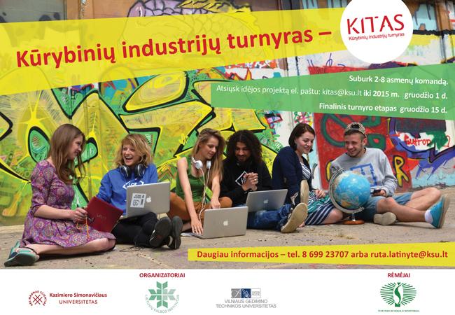 Kūrybinių industrijų turnyras KITAS – dar gali registruotis!