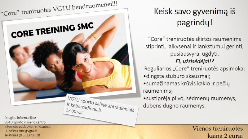 """""""Core"""" treniruotės VGTU bendruomenei"""