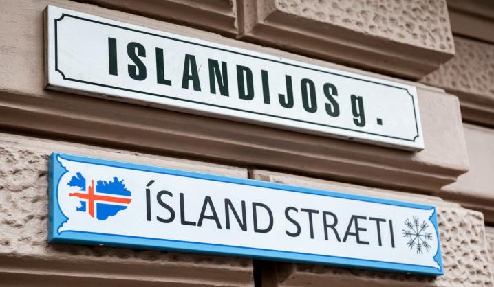 Vilniaus miesto gatvę papuošė VGTU dėstytojo kurta lentelė